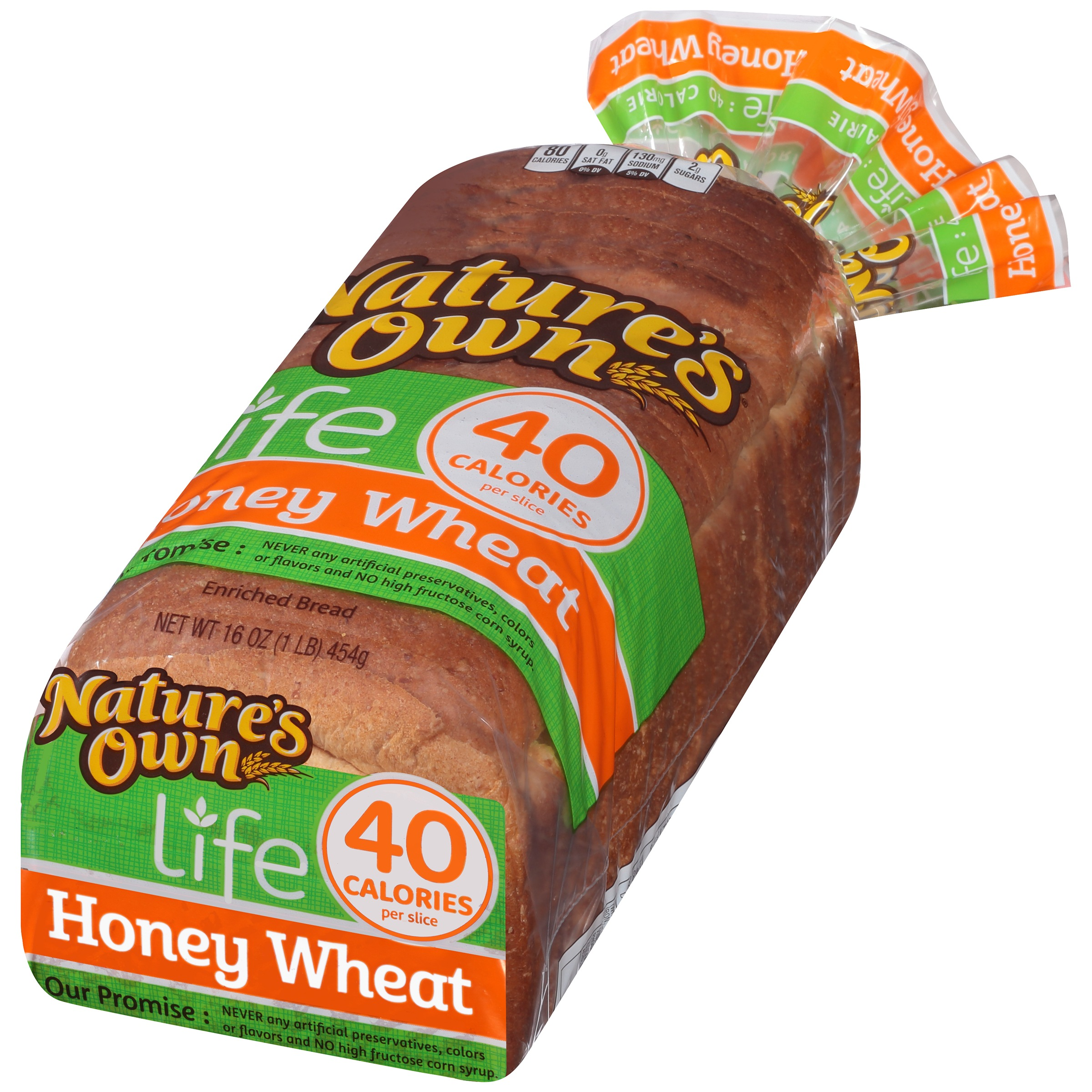 Nature's Own Life 40 Calories Honey Wheat Bread, 16 oz