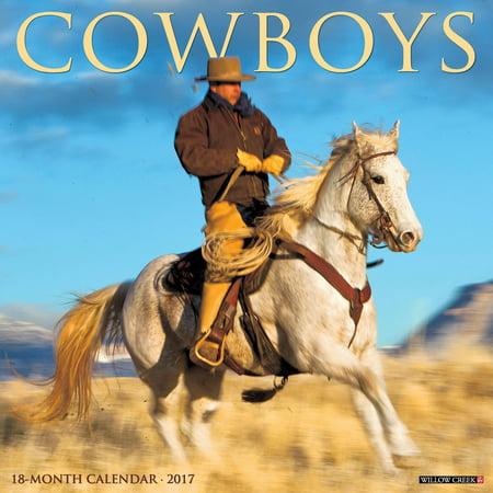 2017 Cowboys Wall Calendar Walmart