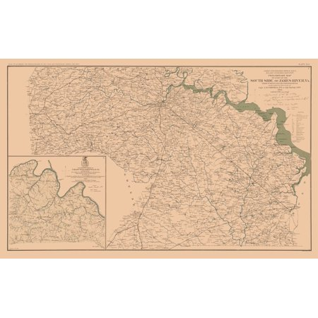 Civil War Chancellorsville James River Virginia Lamont 1894 - James-river-on-us-map
