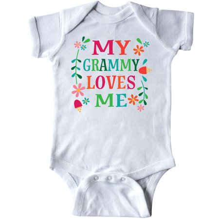 Inktastic My Grammy Loves Me Girls Gift Apparel Infant Creeper From Baby Cute