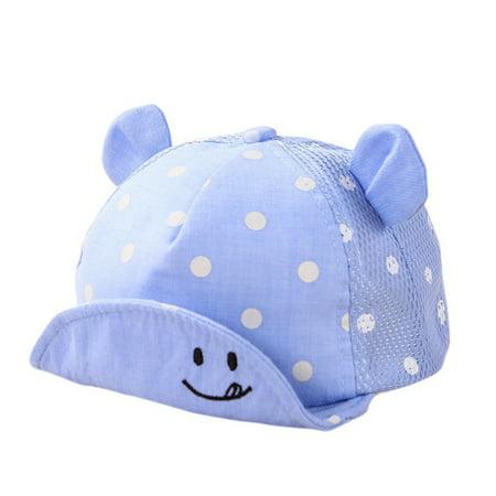 Lavaport Dots Little Ear Hat Kids Cap Newborn Toddler Baby Girl Boy Hats](Toddler Yellow Hat)