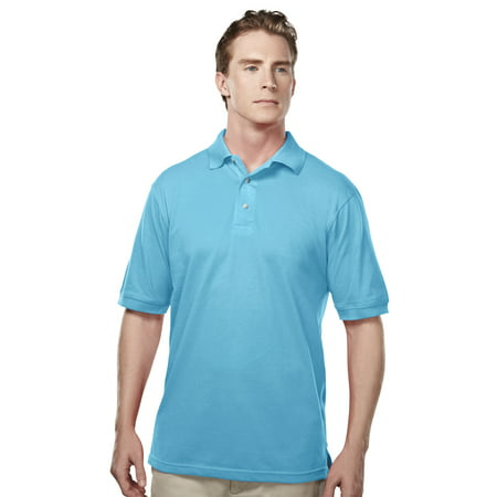 Tri-Mountain Bulk Element 095 Easy Care Pique Golf Shirt, 2X-Large, Aquatic Blue