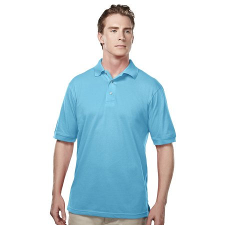 - Tri-Mountain Bulk Element 095 Easy Care Pique Golf Shirt, 2X-Large, Aquatic Blue