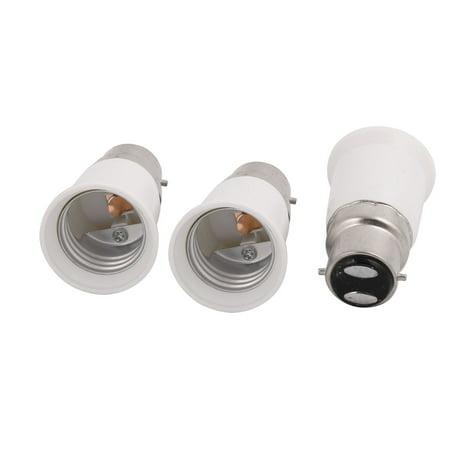 - 3 Pcs B22 to E27  Bulb Base Adapter Converter Light Socket Lamp Holder