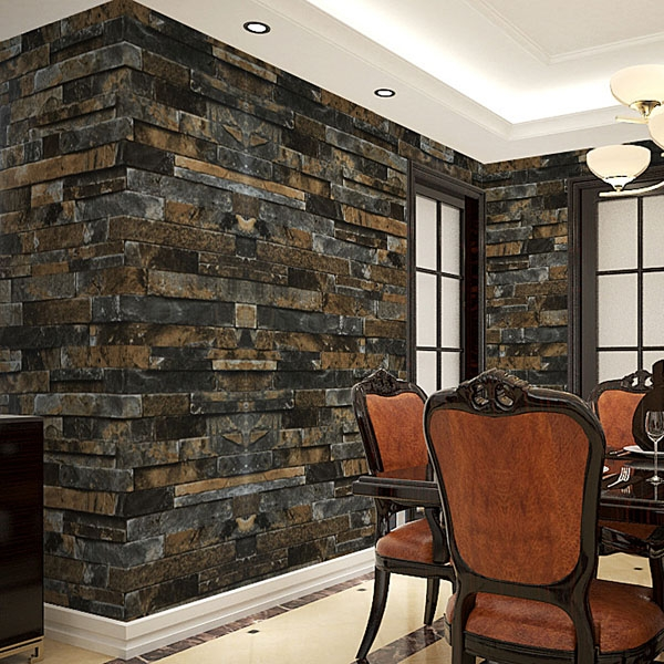 3D Stick Wallpaper Stone Brick Wall Paper Smt