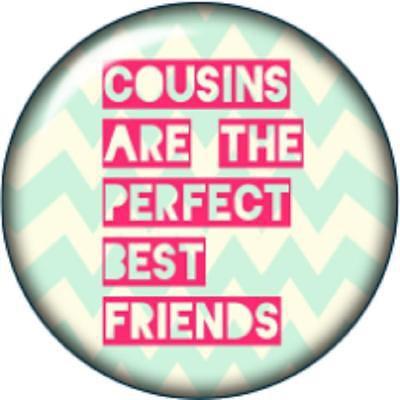 Snap button Cousins Best Friends 12mm charm chunk