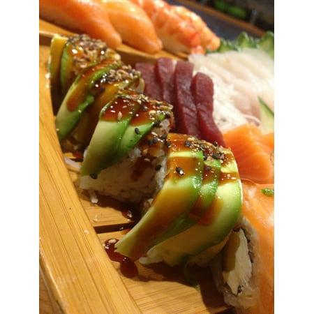 LAMINATED POSTER Jap Healthy Sushi Restaurant Japanese Food Fish Poster Print 24 x
