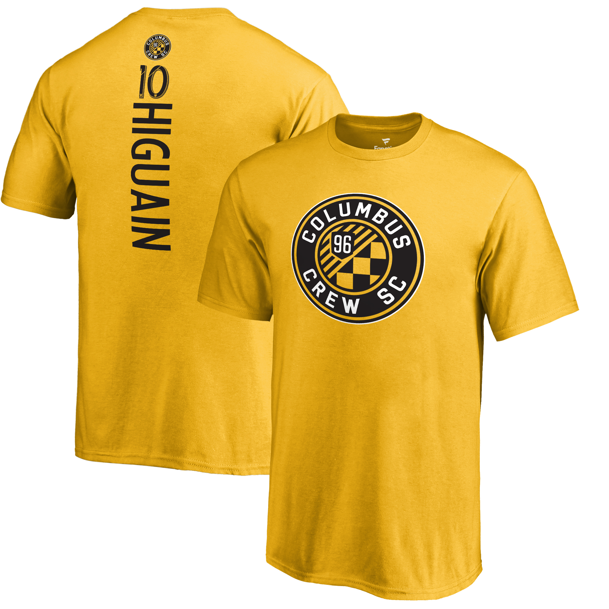 Federico Higuain Columbus Crew SC Fanatics Branded Youth Backer Name & Number T-Shirt - Yellow