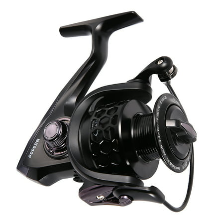 Aluminum Big Game Reel (Ultra Smooth 12+1BB Spinning Fishing Reel with Honeycomb Design CNC Machined Aluminum Spool Model:BE7000 )