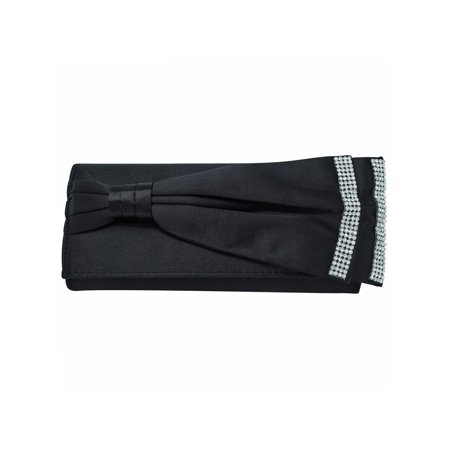 Fold Over Satin Evening Bag Clutch