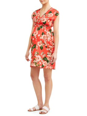 d5acd4ec47476 Product Image Maternity Floral with Tie Wrap Dress - Available in Plus Sizes