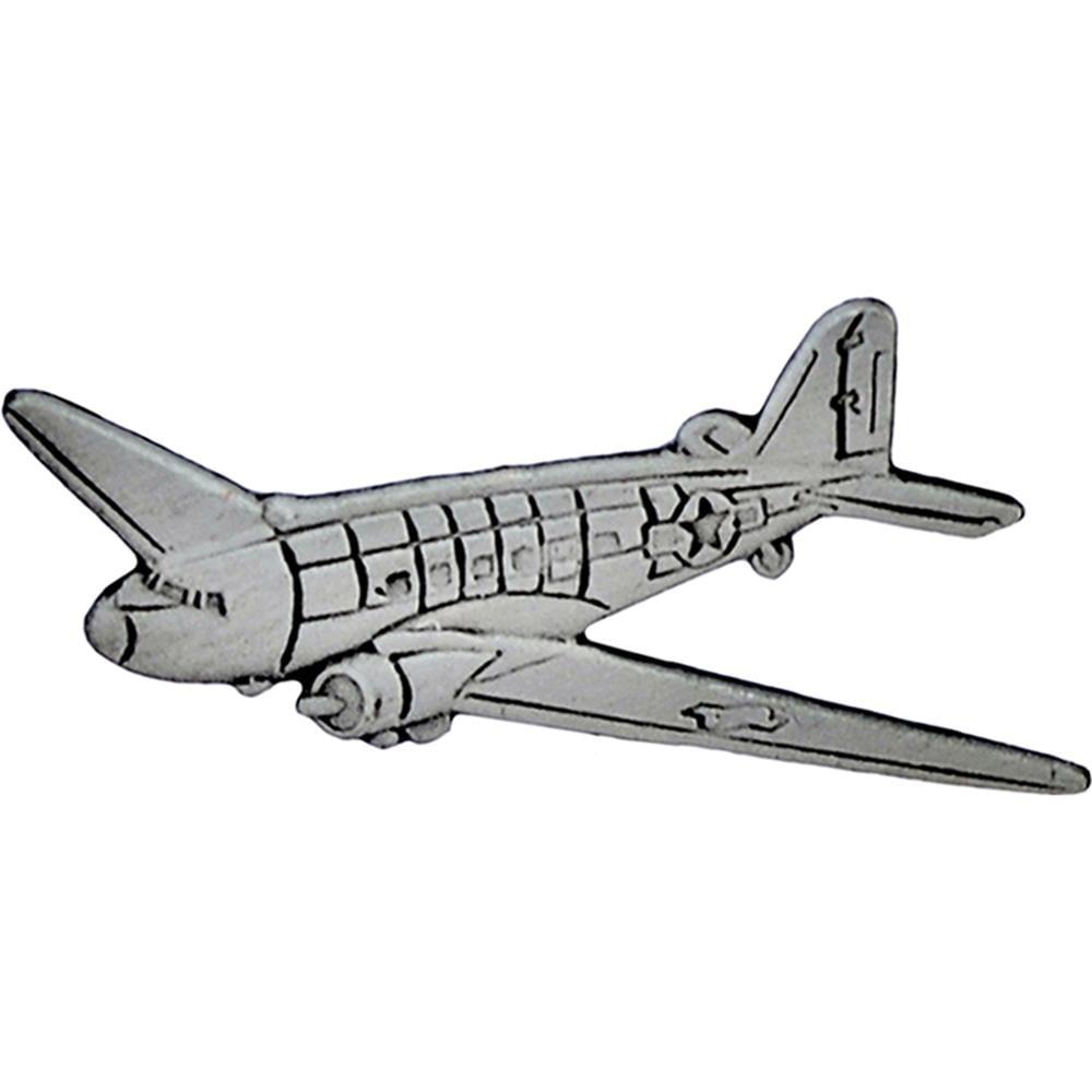 C-47 Dakota Airplane Pin Pewter 1 1/2