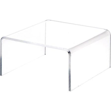 Plymor Brand Clear Acrylic Short Square Riser