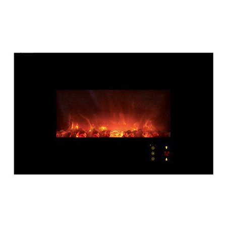 """Modern Flames AL45CLX2-G 45"""" CLx2 Electric Fireplace with Black Glass Front"""