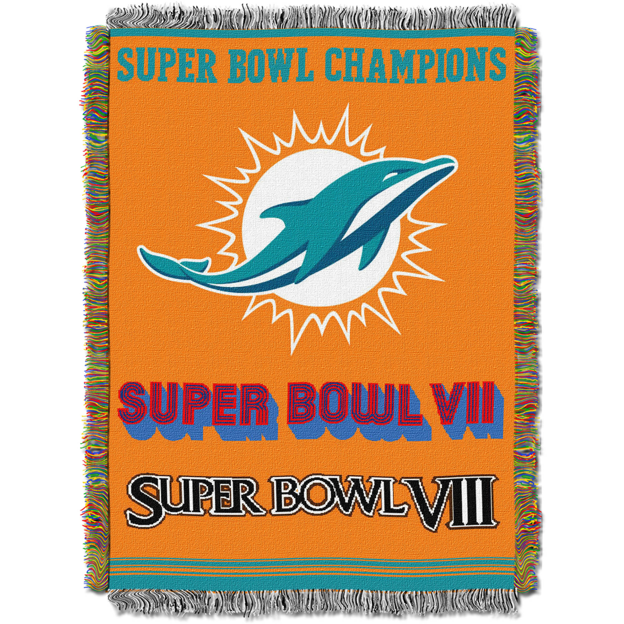 "NFL 48"" x 60"" Commemorative Series Tapestry Throw, Dolphins"