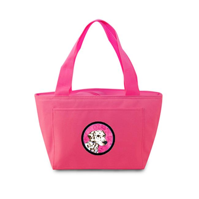 Pink Dalmatian Zippered Insulated School Washable And Stylish Lunch Bag Cooler