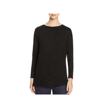 Eileen Fisher Womens Knit Bateau Neck Casual Top