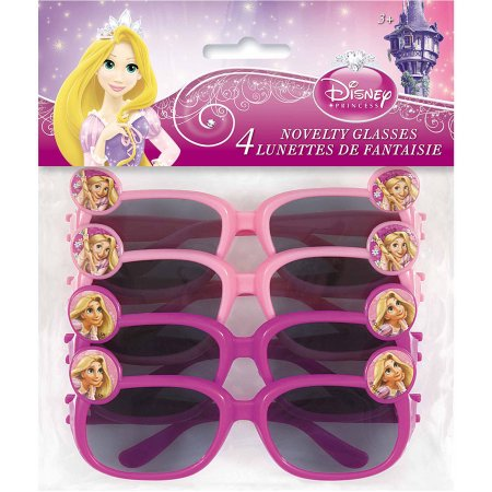 (6 Pack) Disney Tangled Novelty Glasses Party Favors, 4ct