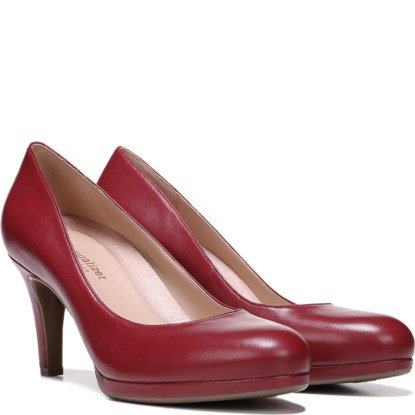 0210b825eac Naturalizer MICHELLE Womens Red Leather Platform Comfort Classic Pumps Shoes