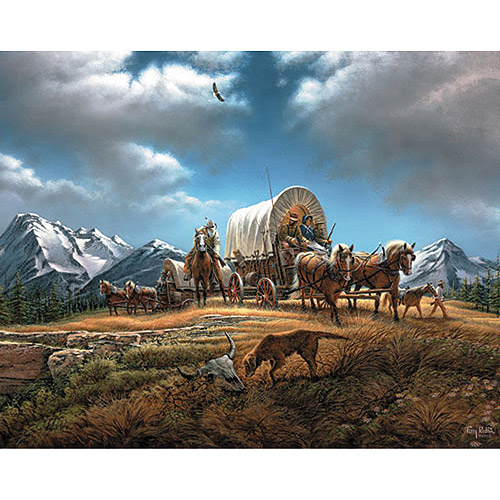 White Mountain Puzzles Terry Redlin Collection, O Beautiful For Spacious Skies, 1000-pieces