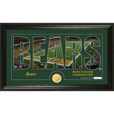 Baylor Bears Silhouette Bronze Coin Panoramic Photo Mint