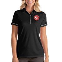 Atlanta Hawks Antigua Women's Salute Polo - Black/White