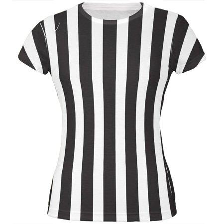 Halloween Referee Costume All Over Juniors T Shirt