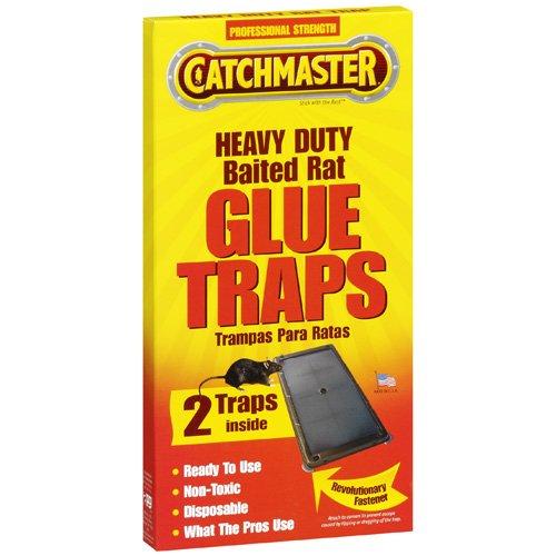 Catchmaster Heavy Duty Baited Rat Glue Traps, 2ct