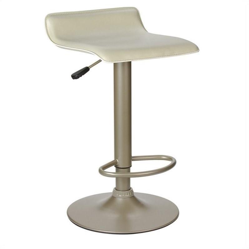 Winsome Wood Spectrum Air Lift Adjustable Swivel Stool, Beige Seat