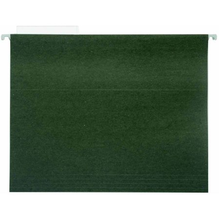 1/3 Pendaflex Essentials File (Pendaflex 1/3 Cut Durable Recycled Hanging File Folder, Letter, Standard Green, Pack of 25 )