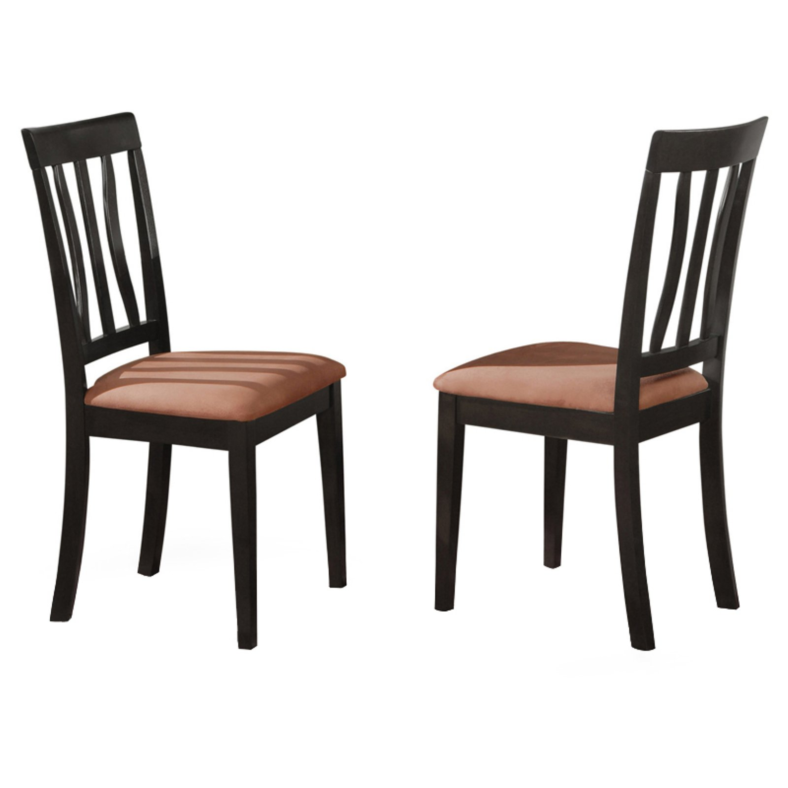 East West Furniture Antique Dining Chair with Microfiber Seat - Set of 2
