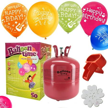 Disposable Helium Tank   50   Happy Birthday   Balloons   Extras