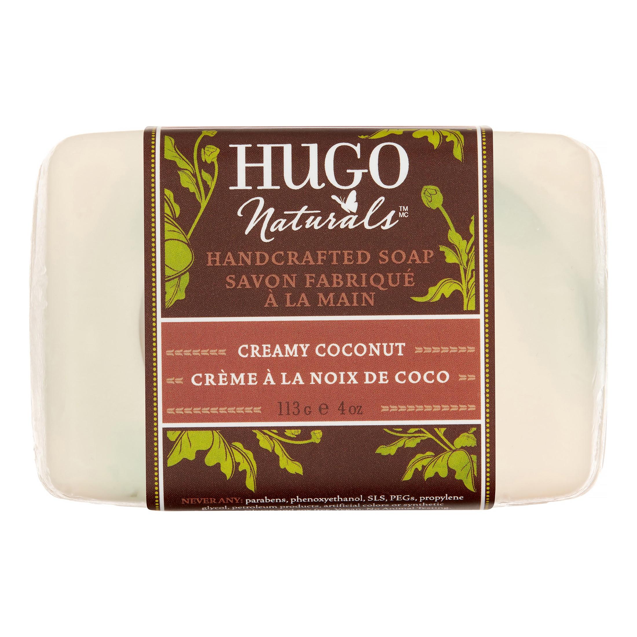 Hugo Naturals Handcrafted Bar Soap, Creamy Coconut, 4 Oz