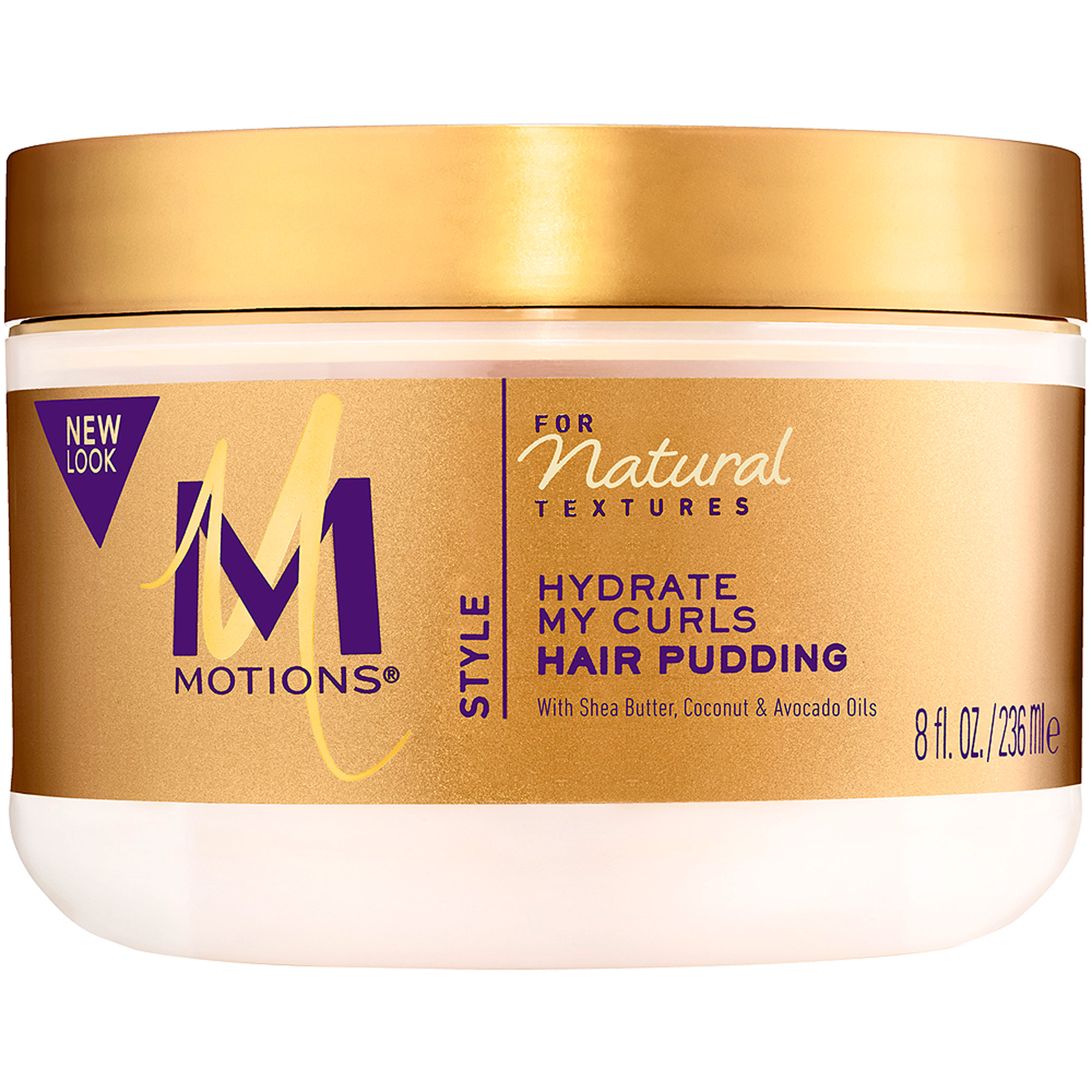 Motions Natural Textures With Shea Butter, Coconut and Avocado Oils Hair Pudding, 8 fl oz