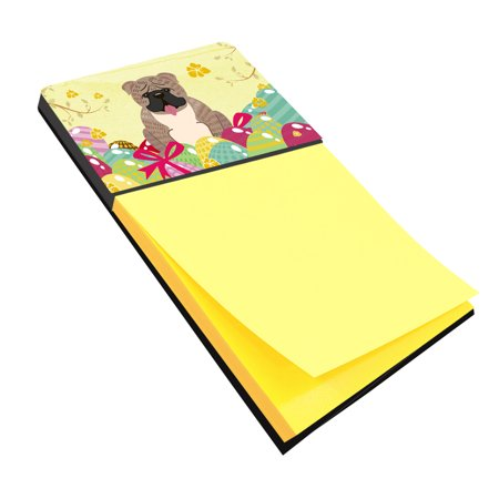 Easter Eggs English Bulldog Grey Brindle  Sticky Note Holder BB6126SN
