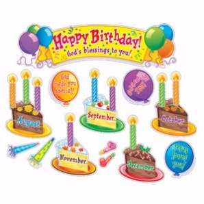 Bulletin Board Set-Birthday Celebration