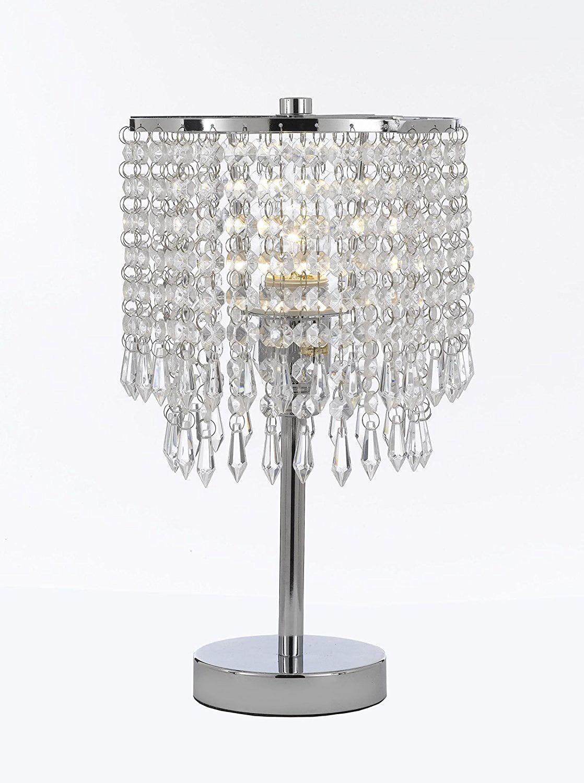 Chrome Round Crystal Bedroom Desk Lamp Table Lamp Bedside