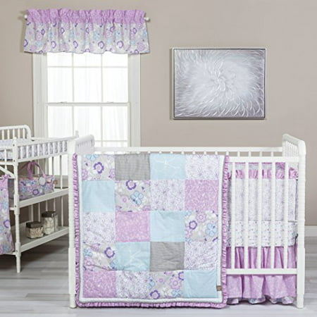 Trend Lab Grace 5 Piece Crib Bedding Set Purple Blue