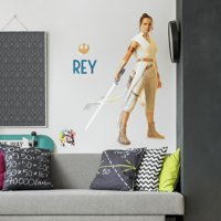 New Licensed STAR WARS Episode 9 Giant REY Wall Decals Star Wars Stickers Room Decor