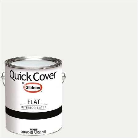 Glidden Quick Cover, Interior Paint, Flat Finish, White, 1 (Best Paint Primer For Interior Walls)
