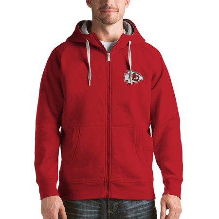 Kansas City Chiefs Antigua Victory Full-Zip Hoodie - Red