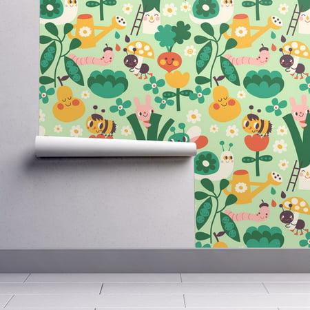 Peel-and-Stick Removable Wallpaper Kawaii Vegetable Veggies Fruit Summer - Wallpaper Halloween Kawaii