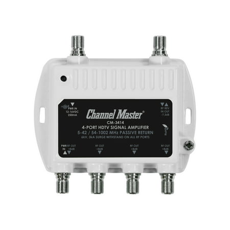 Channel Master 3414 4-Port RF Signal Distribution (Balanced Distribution Amplifier)