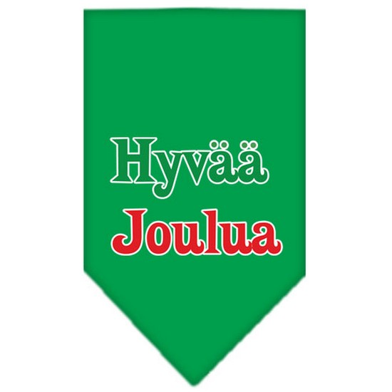 Hyvaa Joulua Screen Print Bandana Emerald Green Small