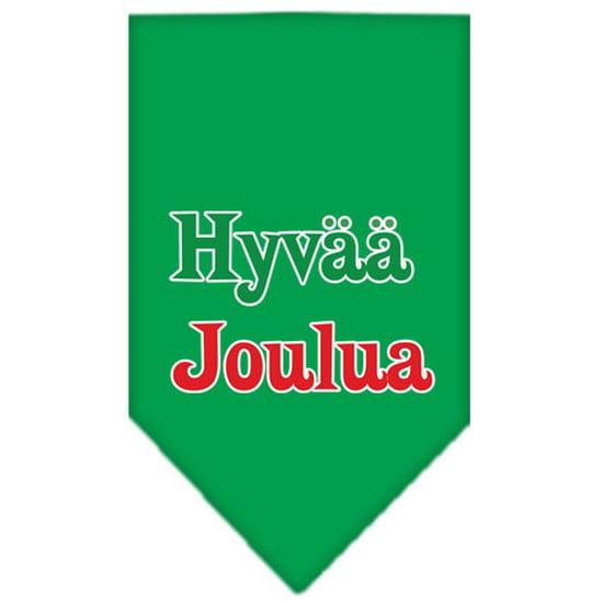 Hyvaa Joulua Screen Print Bandana Emerald Green Large