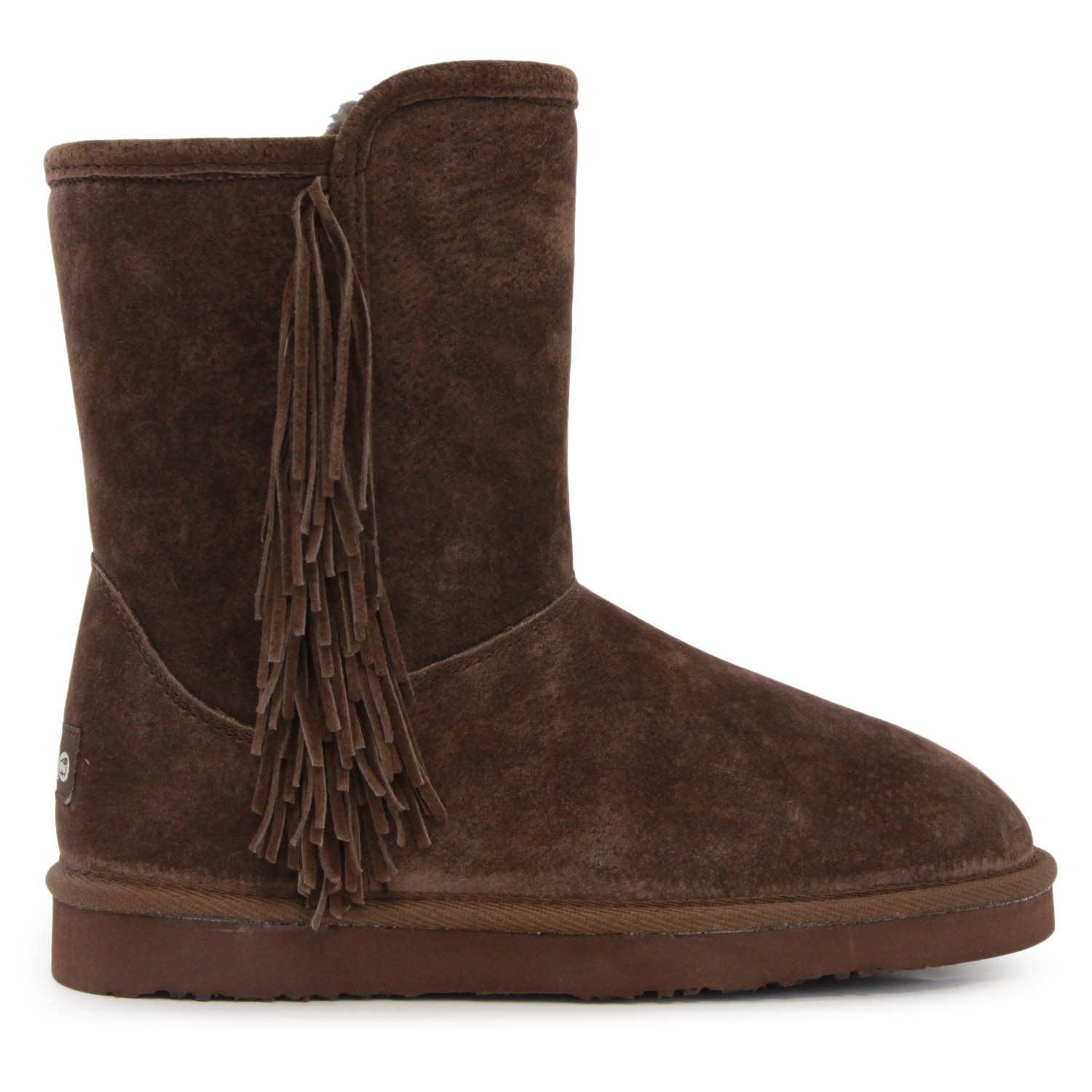 Lamo Sellas Brown Suede Mid-calf Boots by Overstock