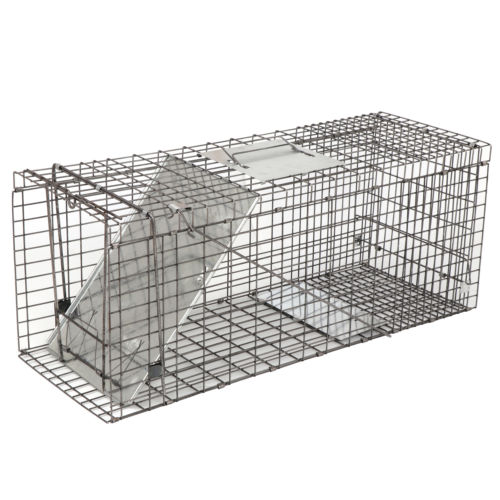 ZENY 32'' Live Animal Trap Extra Large Rodent Cage Garden Rabbit Raccoon Cat Metal