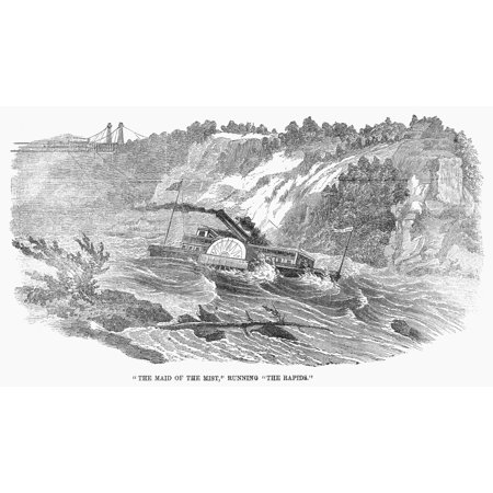 Niagara Falls C1870 Nthe Maid Of The Mist Running The Rapids On The Niagara River Wood Engraving C1870 Rolled Canvas Art -  (24 x (Best Maid Cookies River Falls Wi)
