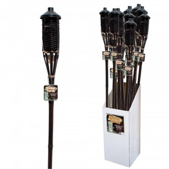 Bulk Buys OL978-48 Brown Bamboo Wicker Tiki Torch Floor D...