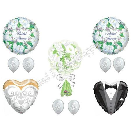 WEDDING BRIDAL BOUQUET Shower Balloons Decoration Supplies Calla Flowers Gown - Bridal Balloons